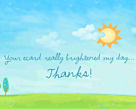 Bright Thanks Reply Ecard