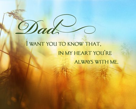 For Dad with Love