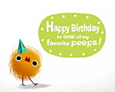 Birthday Peep