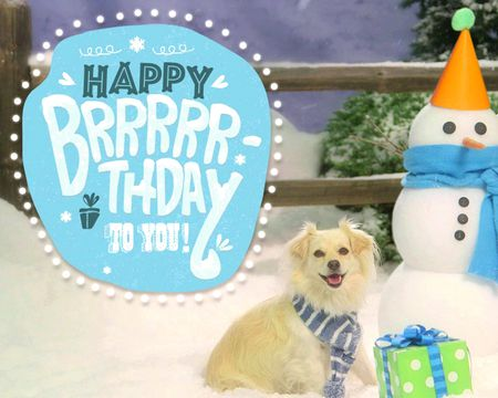 Happy Brrrrr-thday to You