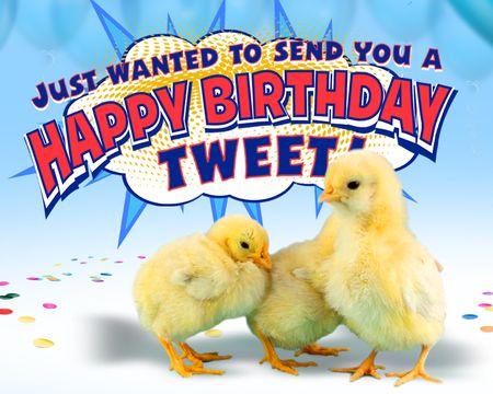 A Happy Birthday Tweet
