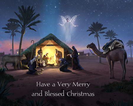 a blessed christmas hymn - Free Christmas Ecards Animated