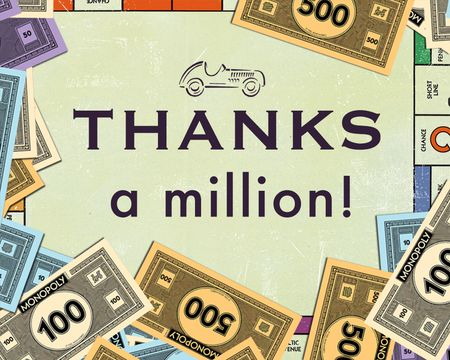 Thanks a Million MONOPOLY™ Ecard