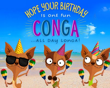 Birthday ecards send birthday cards online with american greetings conga all day longa famous song bookmarktalkfo
