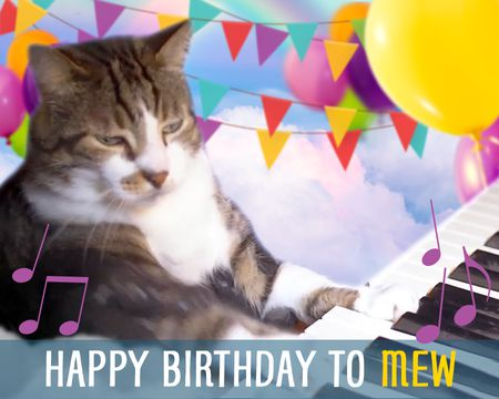 Happy Birthday to Mew Ecard (Birthday Song)