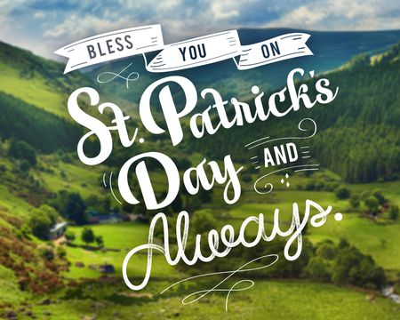 St. Patrick's Day Blessing Poem Ecard