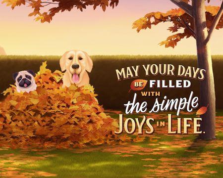Simple Joys Thanksgiving Ecard