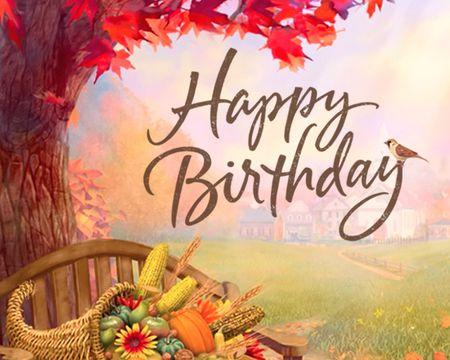 Golden Memories Birthday Ecard