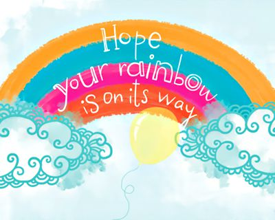 Rainbow Wishes (Postcard)