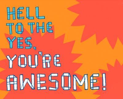 You're Awesome (Postcard)