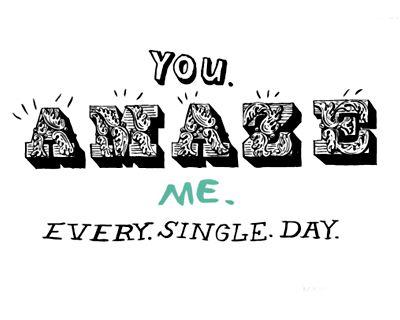 You Amaze Me (Postcard)