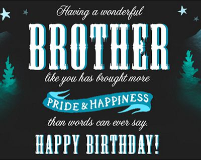 Happy Birthday Brother Postcard