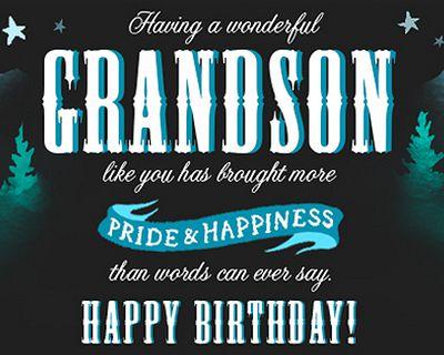 Birthday Ecards For Grandson