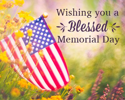A Blessed Memorial Day Ecard (Postcard)