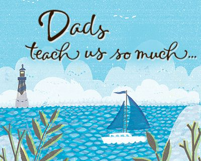 Dads Teach Us So Much Ecard (Postcard)