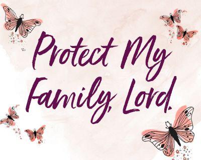 A Prayer for My Family (Postcard)