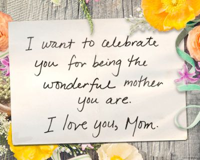 A Letter To My Mom Ecard