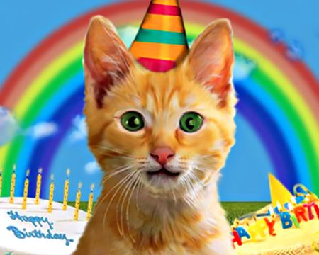 Birthday Kitty (Talking Card)