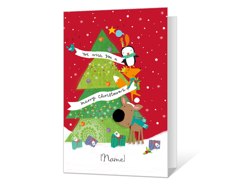 image relating to Printable Christmas Cards for Kids identified as Printable xmas Playing cards for young children - American Greetings