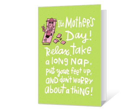 photo about Free Printable Funny Mothers Day Cards titled humorous Printable moms working day Playing cards - American Greetings