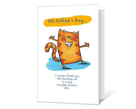 graphic about Free Printable Funny Father's Day Cards called Printable Fathers Working day Playing cards Print Against American Greetings