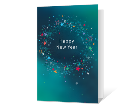 photo relating to Printable New Year Cards titled Printable refreshing decades Playing cards - American Greetings