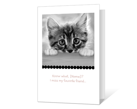 photograph about Printable Miss You Cards referred to as Printable miss out on on your own Playing cards - American Greetings