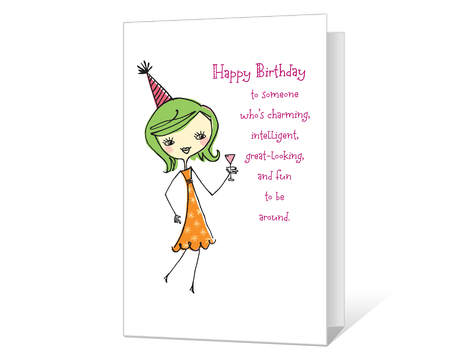image relating to Birthday Cards Printable Funny named humorous Printable birthday Playing cards - American Greetings