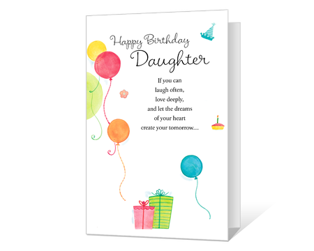 Celebrating Daughter Printable Birthday Shout Out