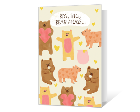 Big Bear Hugs Printable