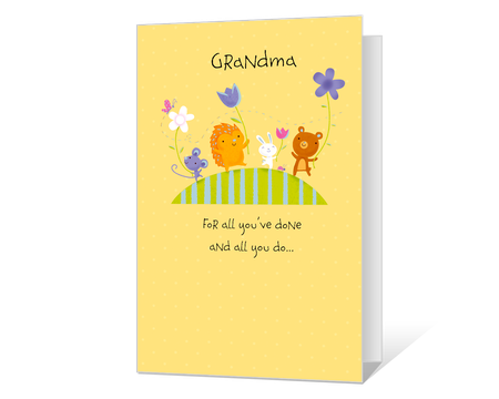 Love You, Grandma Printable