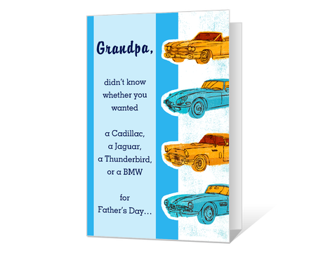 Just for Grandpa Printable