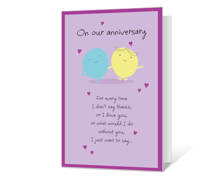 image about Free Printable Anniversary Cards for Him known as Printable Anniversary Playing cards Print against American Greetings