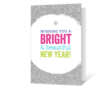 graphic about Printable New Year Cards identified as Printable fresh new several years Playing cards - American Greetings