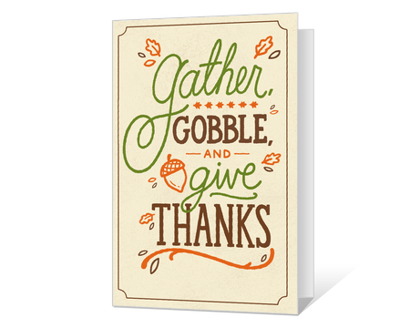 Gobble and Give Thanks Printable