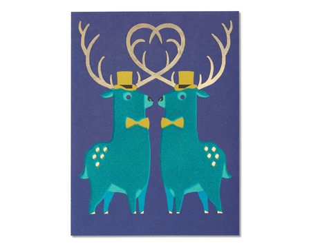 Wedding Congratulations Card for Grooms with Foil