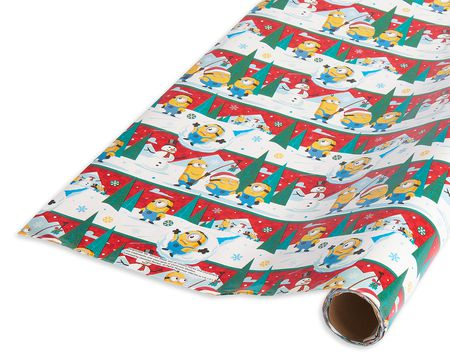 minions christmas disney wrapping paper