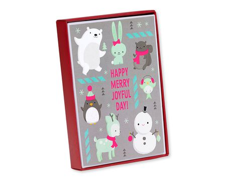 Funny seasons greetings paper cards shop american greetings happy merry joyful holiday boxed cards 8 count m4hsunfo
