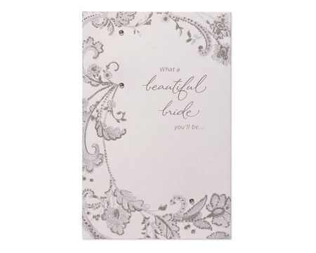 Paper bridal shower greeting cards shop american greetings beautiful bride to be bridal shower card m4hsunfo