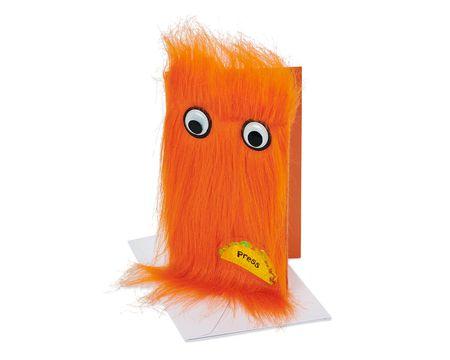 Warm Fuzzy Wishes Orange Taco Greeting Card