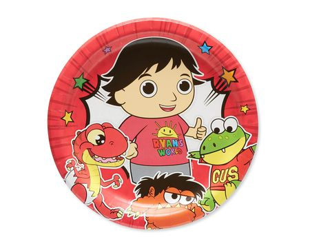 Ryan's World Paper Dinner Plates, 8-Count