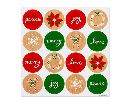 Season's Greetings Sticker Sheets, 32-Count
