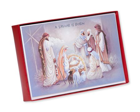 religious paper christmas boxed cards