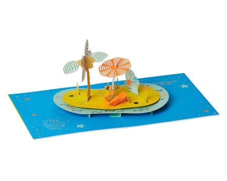 Tropical Pop-Up Birthday Greeting Card