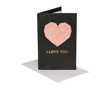 Geometric Heart Valentine's Day Card