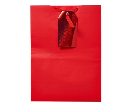 Gift wrap american greetings small red with gift tag gift bag m4hsunfo
