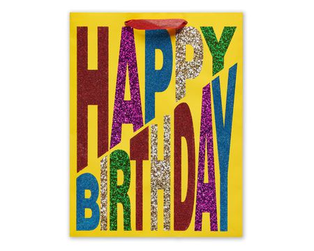 medium happy birthday bold gift bag