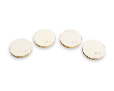 Mud Pie Marble Sentiment Coasters