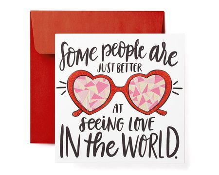 Seeing Love Valentine's Day Card