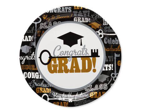 Graduation Paper Dinner Plates, 8-Count